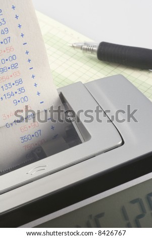 Calculator and Tape