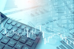 Calculator and TRADING GRAPH  on SPREADSHEET Excel Research FInancial Accounting Summary Analysis Report,Double Exposure Business Finan  BUSINESS DATA and STOCK MARKET EXCHANGE