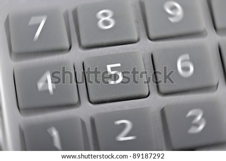 Calculator buttons, closeup
