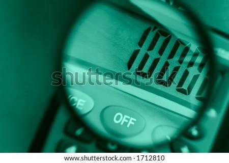 Calculator close up-calculation of increases profit