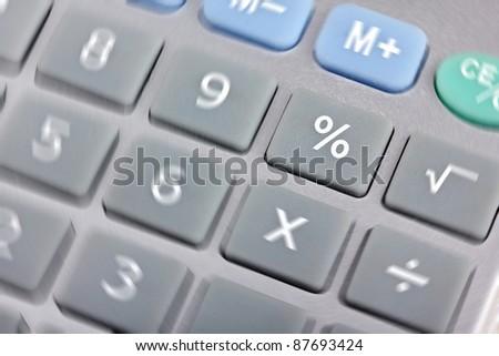 Calculator, focus on button percents