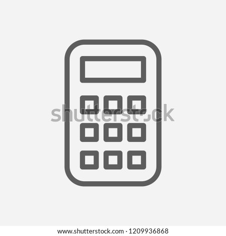 Calculator icon line symbol. Isolated  illustration of  icon sign concept for your web site mobile app logo UI design.