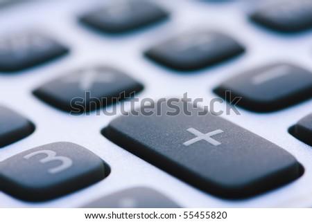 Calculator Keyboard Super Close Up.