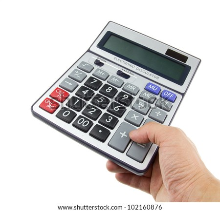 Calculator on a business background