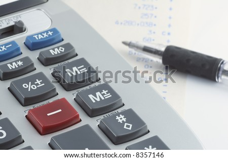 Calculator & Pen
