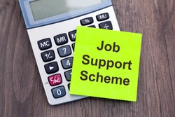 Calculator with note on top which reads 'Job Support Scheme'