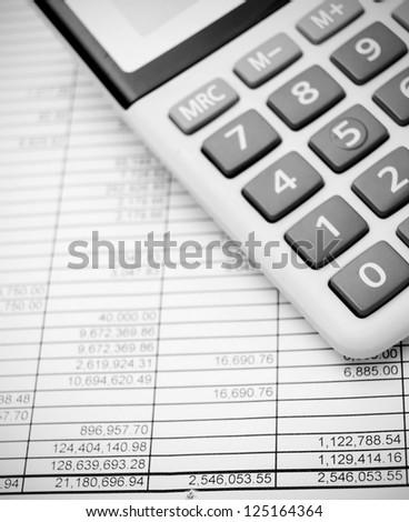 Calculators and documents.