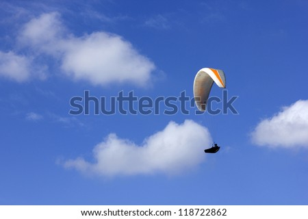CALDELAS, PORTUGAL - OCTOBER 13: Paragliding Cross-country Portuguese League, in the north of Portugal, October 13, 2012, Caldelas, Portugal. - stock photo