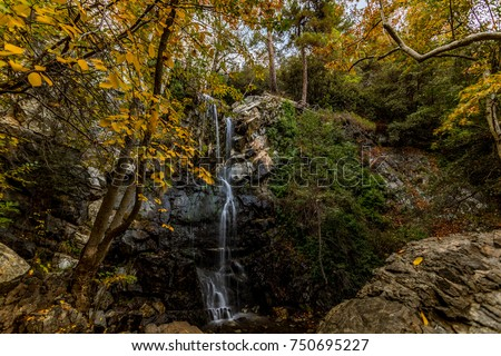 Caledonia waterfalls, is one of the highest water falls in Cyprus. It is located on Platres village in Troodos and the water fells from a height of 12 meters. It can be reached via a walking path.