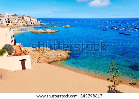 Calella de Parafrugell in Costa Brava of Girona at Catalonia Spain Photo stock ©