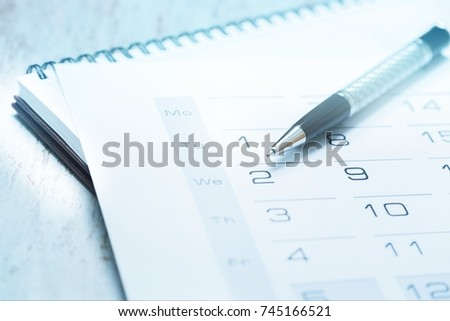 Calendar. #745166521