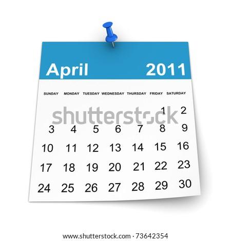 Calendar 2011 - April