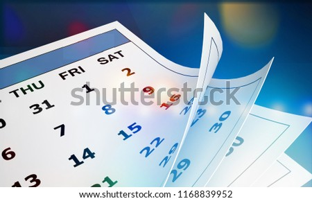 Calendar concept for an important day or reminder