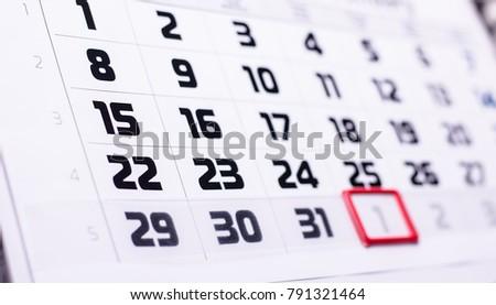 calendar days, background #791321464