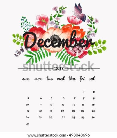 calendar month template