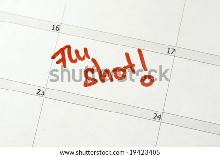 Calendar entry to get a flu shot