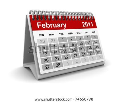 Calendar 2011 - February