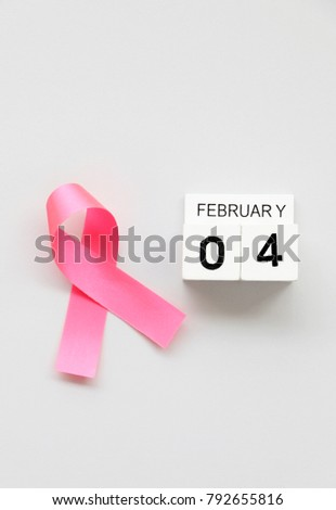calendar February 4 concept World Cancer Day #792655816