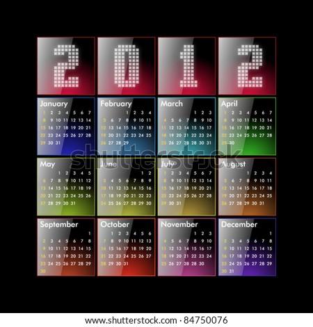 Calendar 2012 - glossy