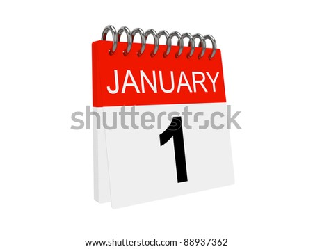 Calendar isolated on the white background. New Year 2012 - stock photo