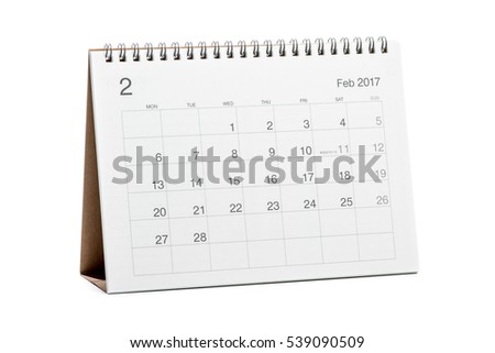 Calendar 2017 isolated on white background #539090509