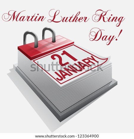 Calendar 21 January Martin Luther King Day