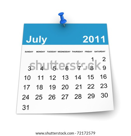 Calendar 2011 - July