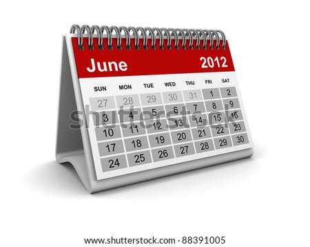 Calendar 2012 - June