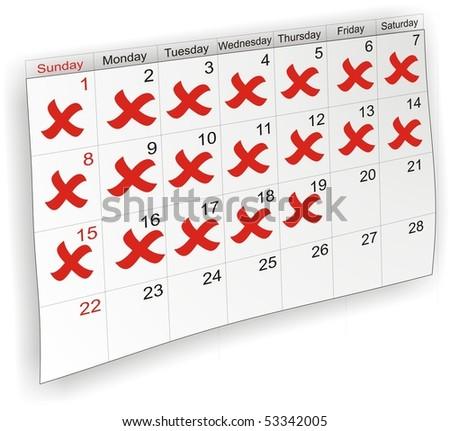 Calendar labeled