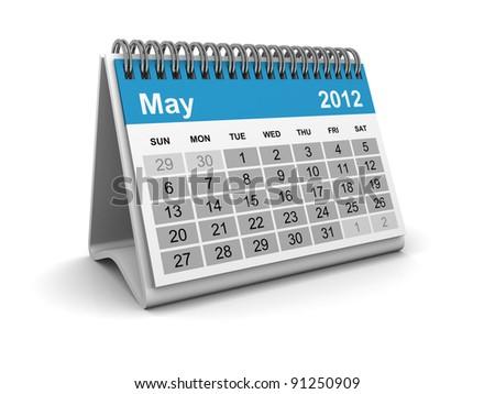 Calendar 2012 - May - stock photo