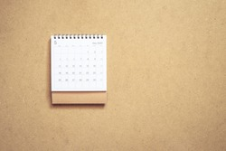 Calendar may 2020 on brown background