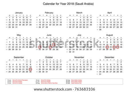 calendar of year 2018 with public holidays and bank holidays for saudi arabia 763683106