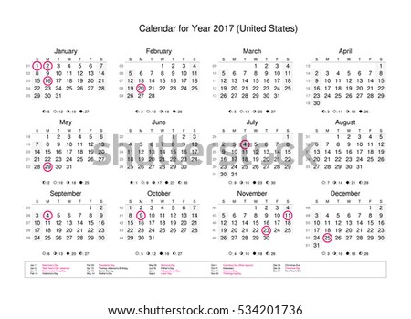 Calendar Of Year 2017 With Public Holidays And Bank ...