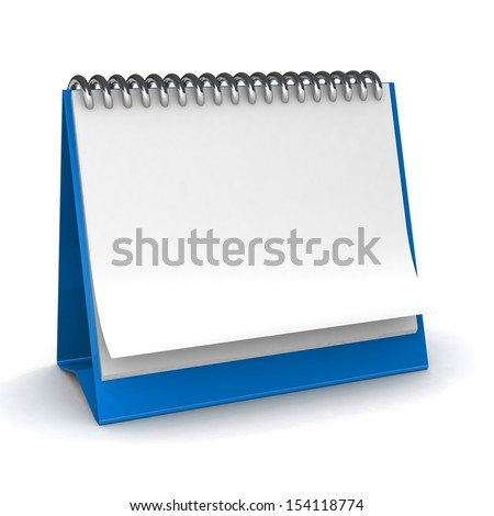 Calendar on a white background