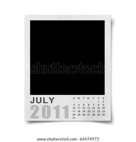 blank july calendar 2011. stock photo : Calendar 2011 on