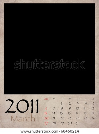 blank calendars 2011 march. Printable Blank March 2011