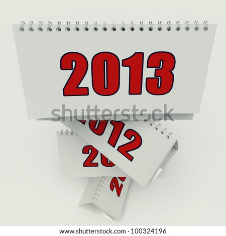 calendar 2013 on the white background