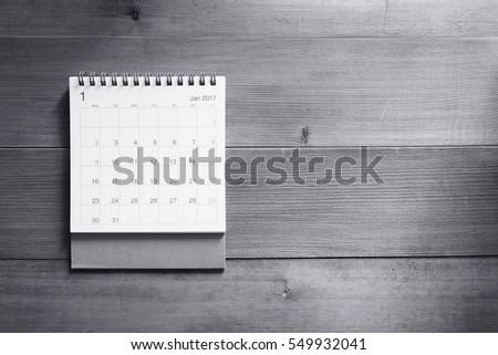 calendar on wooden background #549932041