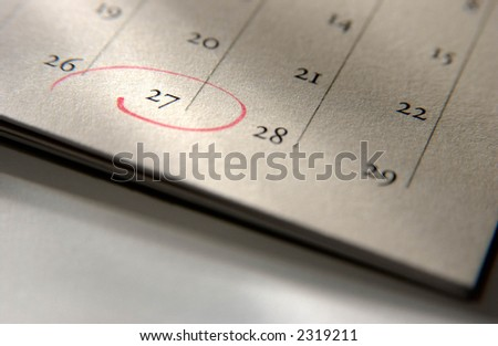 Calendar page date - stock photo