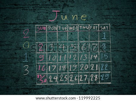 """calendar """"May 2013"""" on grunge texture background - stock photo"""