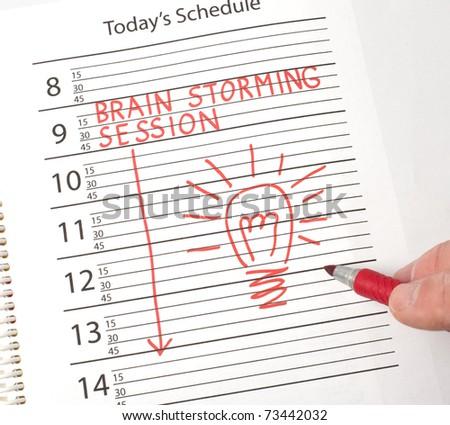 Calendar reminder brains storming