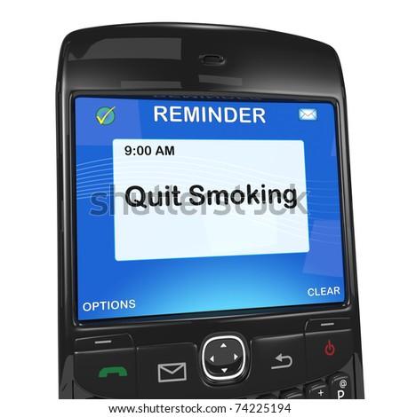 Calendar reminder, quit smoking