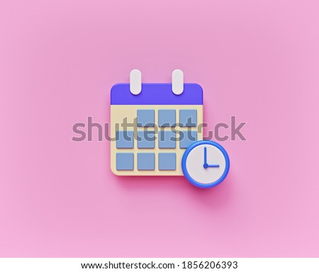 Calendar Schedule icon symbol isolated. minimal style design. 3d rendering