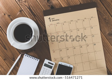 Calendar table photo #516471271