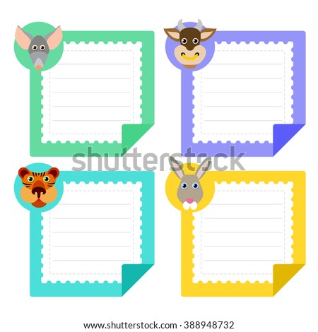 Calendar Template Eastern Horoscope And Note Papers Collection – Zodiac Calendar Template