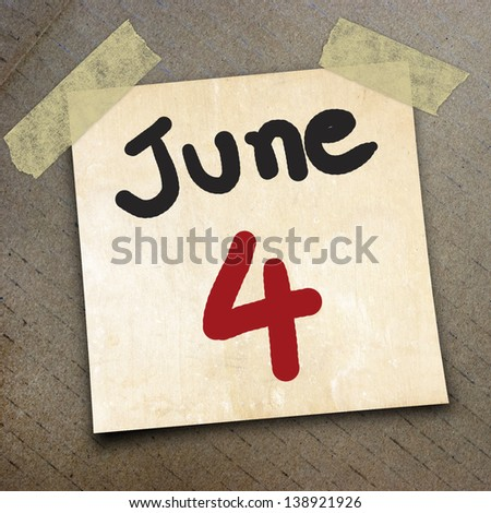 calender paper on the packing paper box texture background