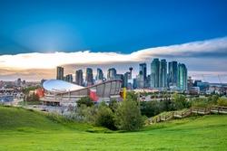 Calgary city landscape in summer, Canada