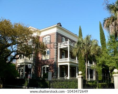 Calhoun Mansion along Meeting Street, Charleston, South Carolina, USA