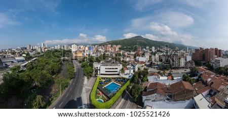 Cali panoramic view, Santiago De Cali, Colombia