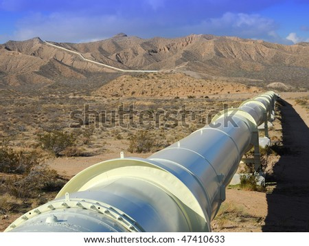 California Aqueduct in the Mojave Desert.